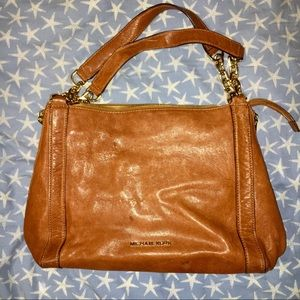 Michael Kors Brown Leather Shoulder Bag